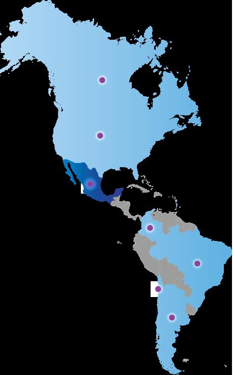 Carte des Amériques