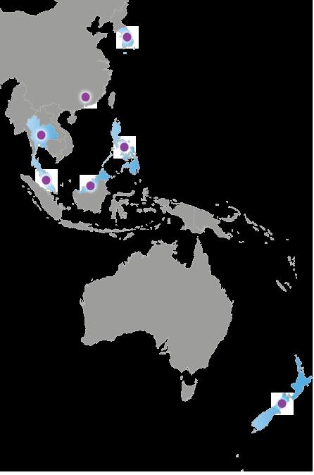 Carte de l'Asie et Océanie
